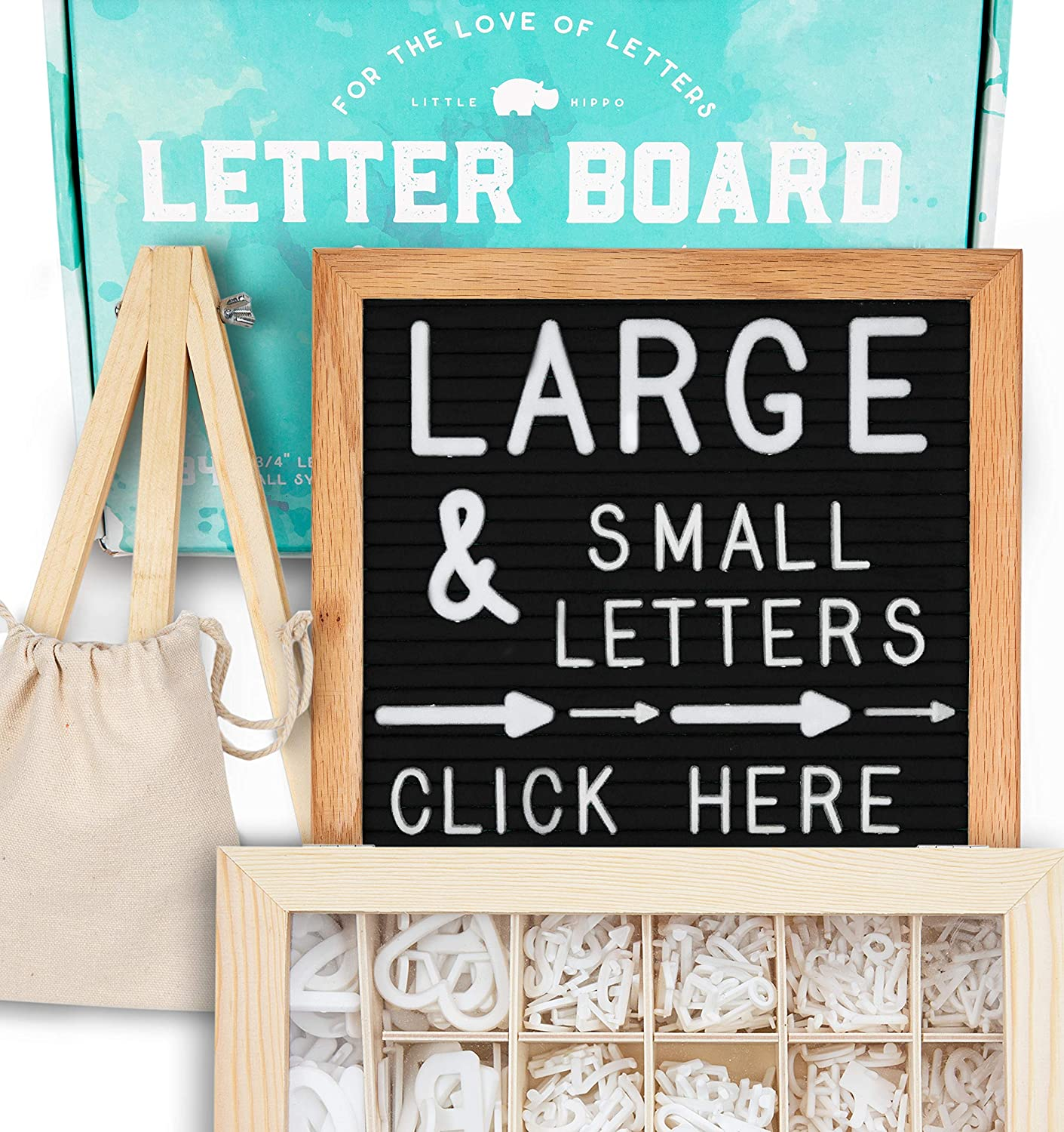Felt Letter Board 10x10 (Black) | +690 PRE-Cut Letters +Stand +Upgraded Wooden Sorting Tray! Letters Board, Letter Boards, letterboard, Word Board, Message Board, Letter Sign, Changeable