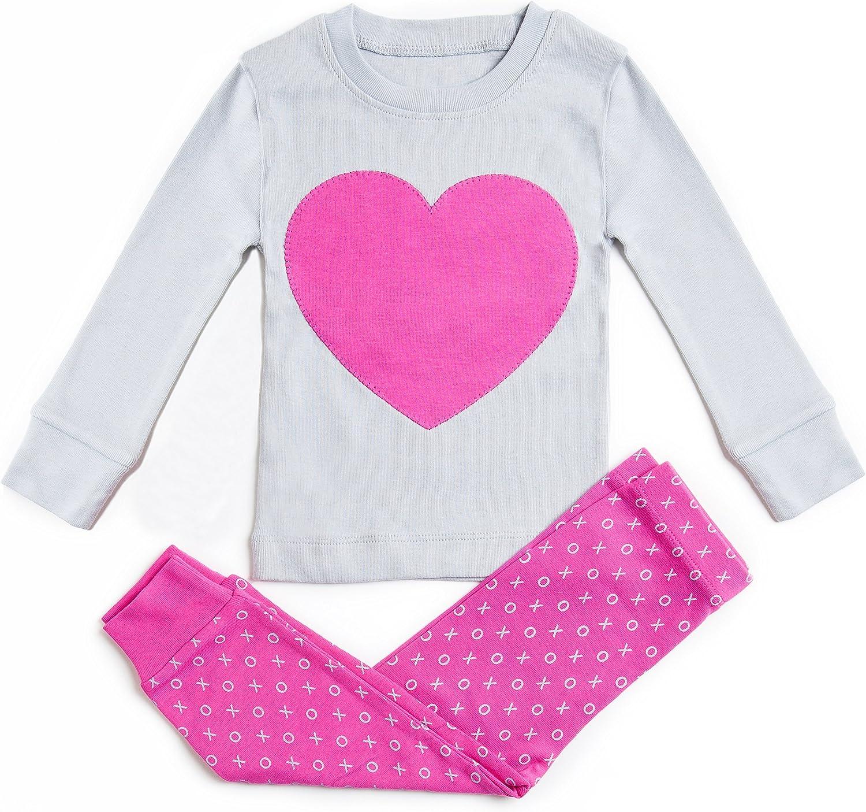 12m-8y Bluenido Girls Pajamas Unicorn Pegasus Lips 2 Piece 100/% Super Soft Cotton
