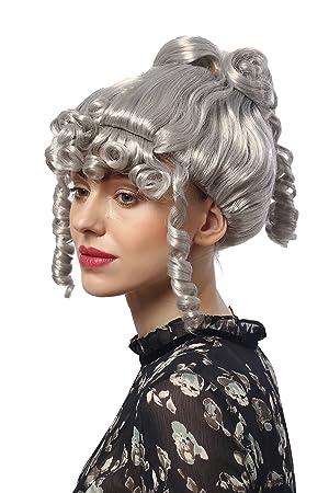 WIG ME UP ® - 90713-ZA68A Peluca Mujeres Carnaval Halloween: Barroco Renacimiento Romanticismo