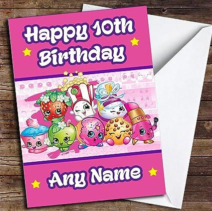 Tarjeta De Cumpleaños Personalizada Con Texto En Inglés Any