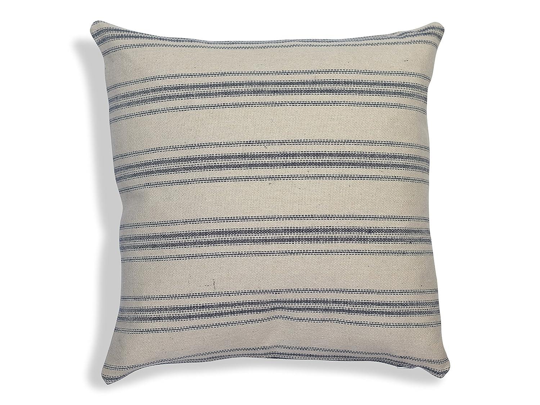 Grain sack Farmhouse Throw Pillow Handmade Home Decor Pillowcase Cover Grainsack Woven Striped