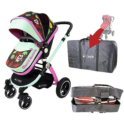 iSafe sistema 2 in1 – de búho y botón para cochecito de bebé completo con equipaje