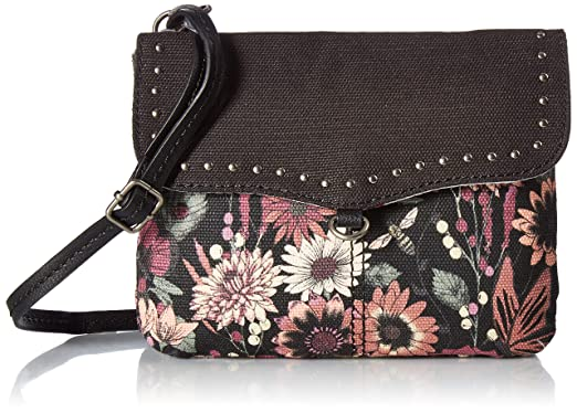 05a3454af4dcaf Sakroots Austen Double Gusset Crossbody, Graphite in Bloom: Handbags ...