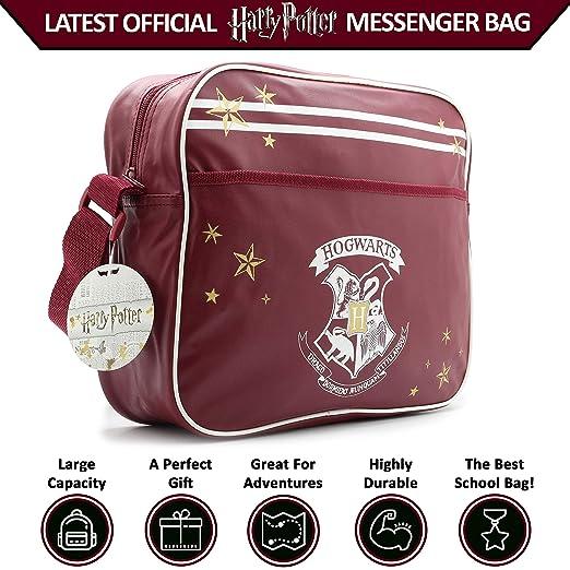 c3dde96f2200 Harry Potter Messenger Bag Hogwarts Crossover Bags Gryffindor School  Accessories College  Amazon.co.uk  Luggage