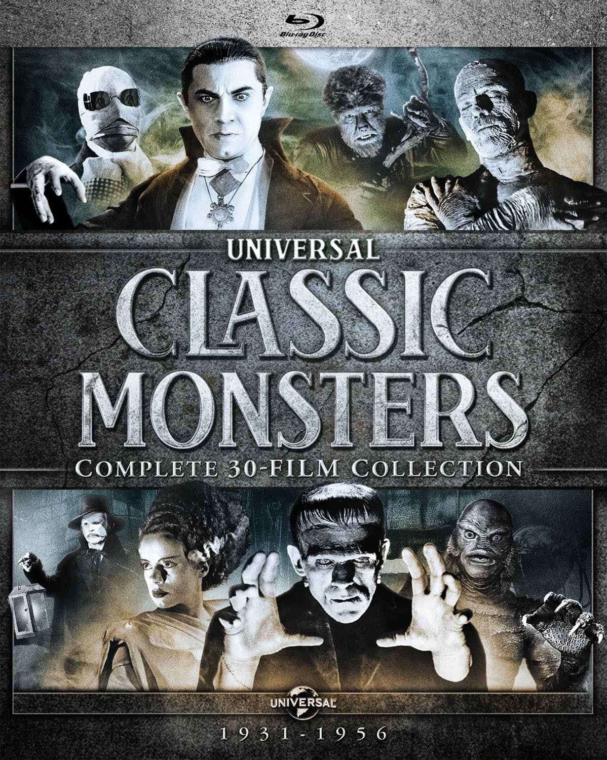 Blu-ray : Universal Classic Monsters: Complete 30-film Coll (Boxed Set, 24PC)