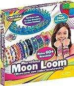 Moon Loom DIY Rubber Band Bracelet Making Craft Kit for Kids