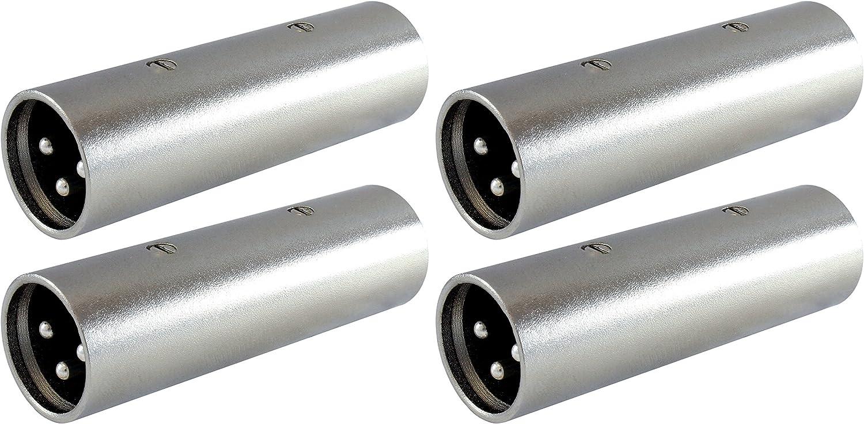 XLR Female//Female /& Male//Male  Barrel Coupler Kit