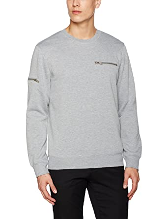 Burton Menswear London 46J06JGRY-Sudadera Hombre Gris Gris (Light Grey 152) X-Large: Amazon.es: Ropa y accesorios