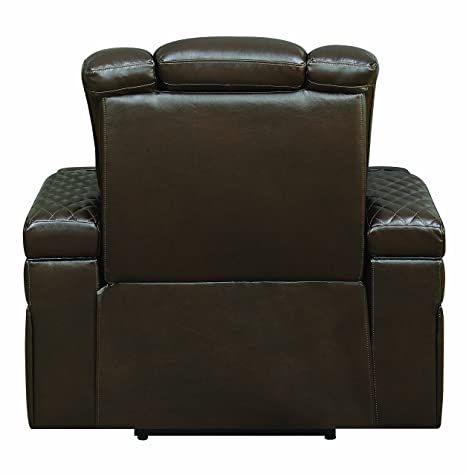 Amazon.com: Coaster Home Furnishings 602306P Recliner, Brown ...