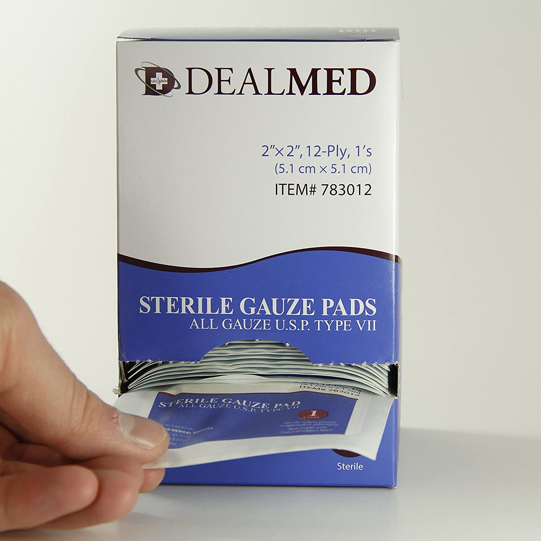 Amazon.com: Dealmed Sterile Gauze Pads, Individually Wrapped ...