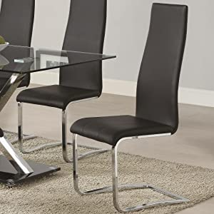 Wildon Home Side Chair [Set of 4] Upholstery: Black
