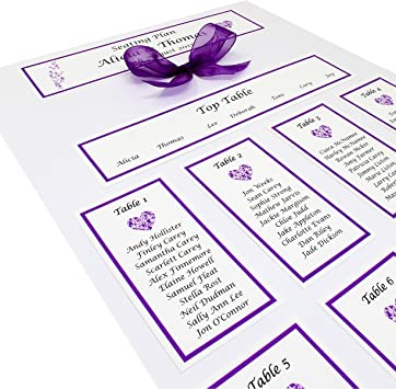 Personalised Handmade A3 Wedding Table Plan Seating Plan Amazon Co Uk Office Products