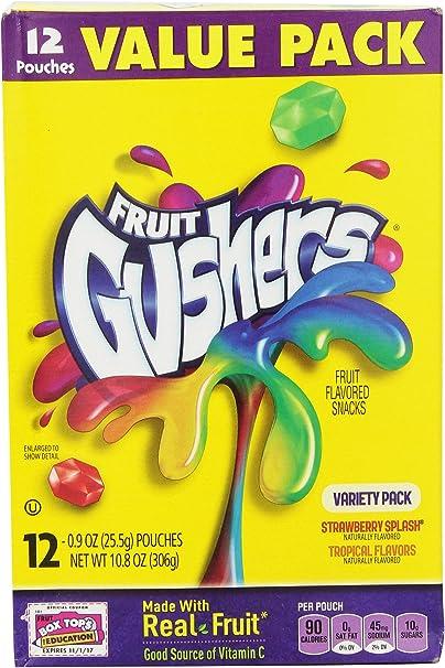 Fruit Gushers Variety Pack, 12 Count (Pack of 6): Amazon.es: Alimentación y bebidas