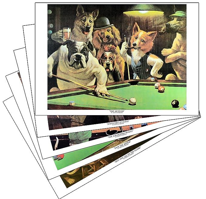 Sterling Gaming Impresiones de Perros Que juegan al Billar ...