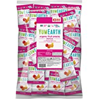 YumEarth Organic Vegan Tropical Fruit Snacks, 0.7 Ounce Snack Packs, 43 pack (Pack of 1) - Allergy Friendly, Non GMO, Gluten Free, Vegan (Packaging May Vary)