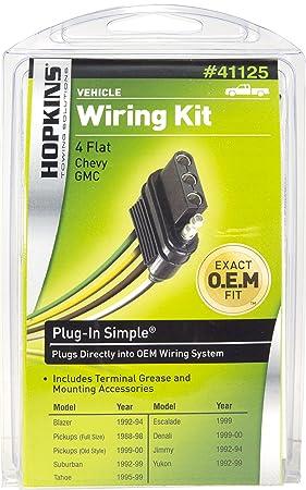 Amazon.com: Hopkins 41125 Plug-In Simple Vehicle Wiring Kit ...