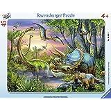 Ravensburger - 06633 - Puzzle Enfant avec Cadre - Paisibles Dinosaures - 45 Pièces