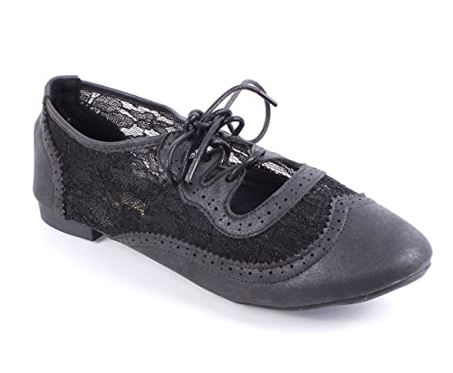 543062227336 Amazon.com | Casual Lady Lace up Lace Sexy Narrow Width Fashion Women  Oxfords Flat Shoes New Without Box | Oxfords
