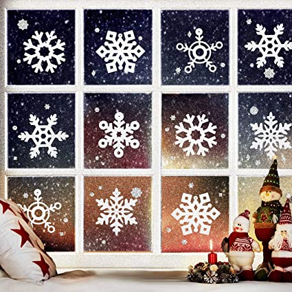 4 Silver 4 Inch Glitter Snowflake Christmas Frozen Party Ornament Decoration