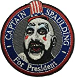 """Captain Spaulding Velcro Patch Embroidery Tactical Morale Badge Hook & Loop Patch Size 3""""×3"""""""