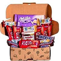Caja regalo de bombones y chocolates - Nutella, Happy HIppo, Kit Kat, Milka, Snickers. Regalo original para cumpleaños…