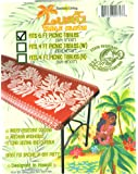 "Hawaiian Tropical Picnic Tablecloth (Fits 6 feet picnic tables 72""x30"", spicing up any party)"