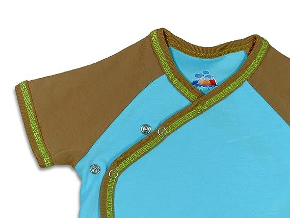 Mama Ocllo - Body/Pijama Para de manga corta en algodón Bio Pima - 100% nacimiento Talla:0 a 3 meses: Amazon.es: Bebé