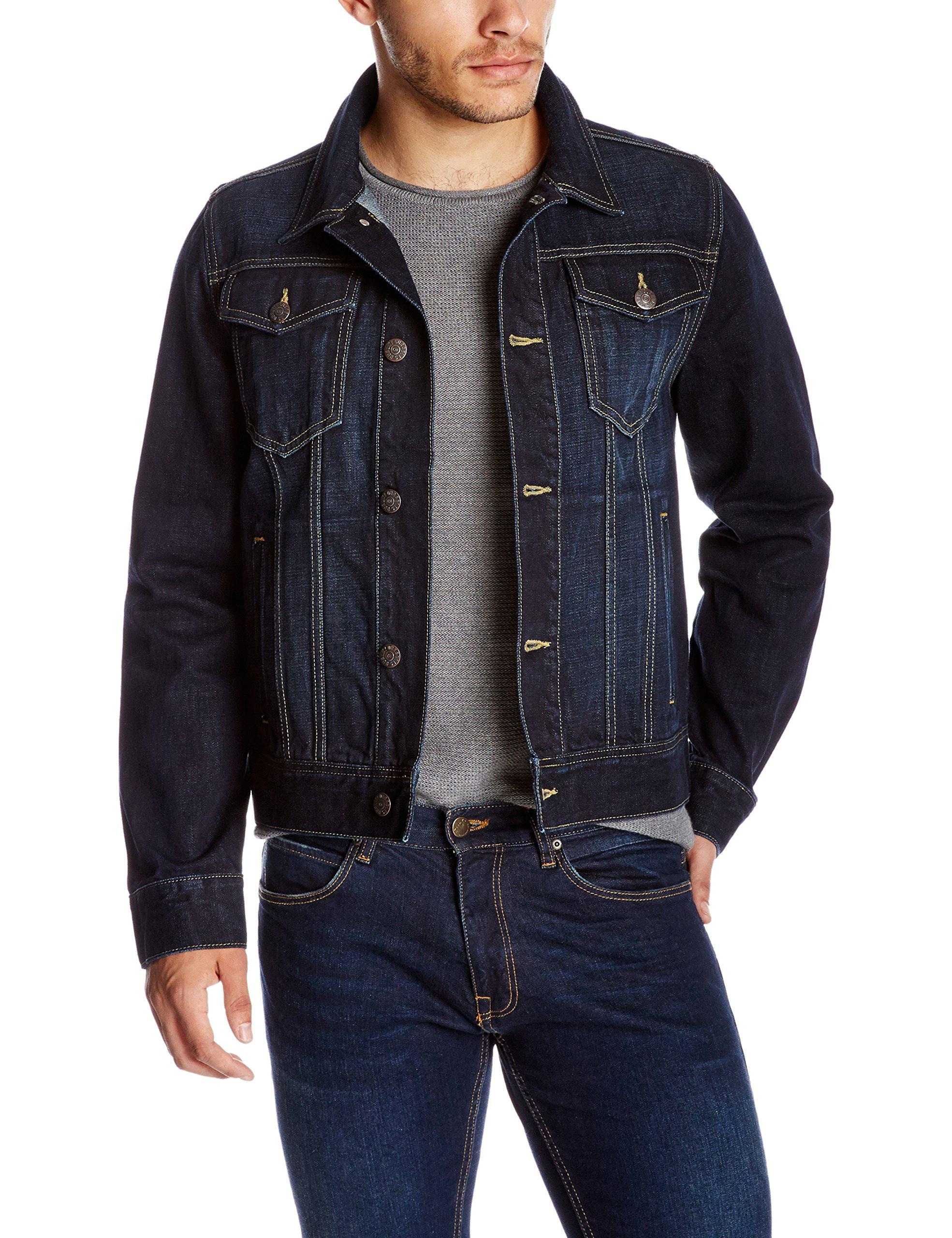 Quality Durables Co. Men's Regular Fit Jean Jacket M Rinsed Wash