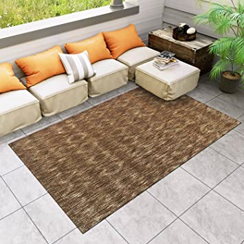 Amazon Com Super Area Rugs Patio Deck Indoor Outdoor Distressed Rug