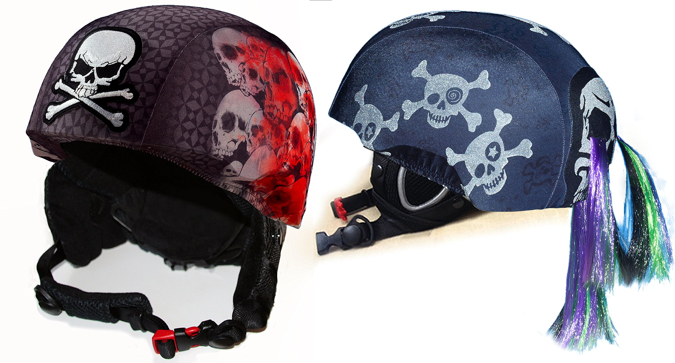 Fun Helmet Cover bundle Screaming Skulls And Skullz N' Bones