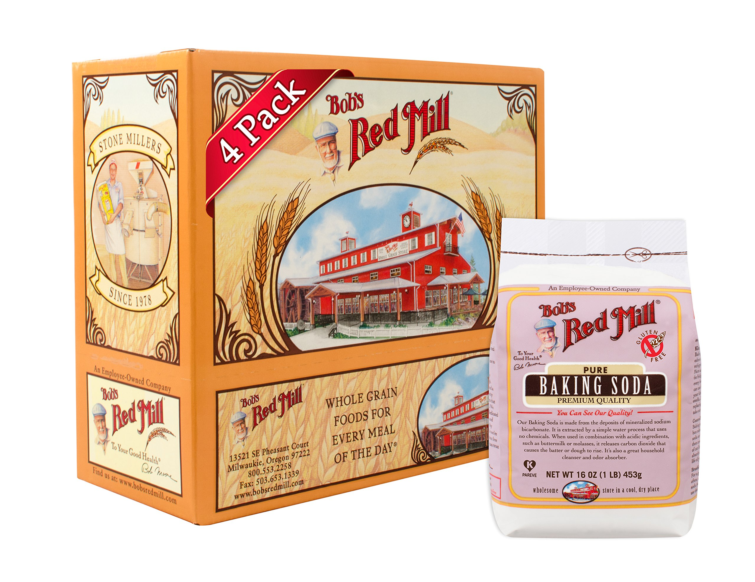 Bob's Red Mill Baking Soda, 16-ounce (Pack of 4) by Bob's Red Mill (Image #1)