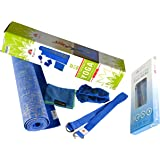 YogiMall 5-in-1 Natural Jute Yoga Mat, Non-Slip Yoga Socks, Cotton Strap & Hand Towel Set – Eco Friendly and SGS Certified - Reversible Premium Yoga Mat Set for All Types of Yoga, Pilates & Exercise