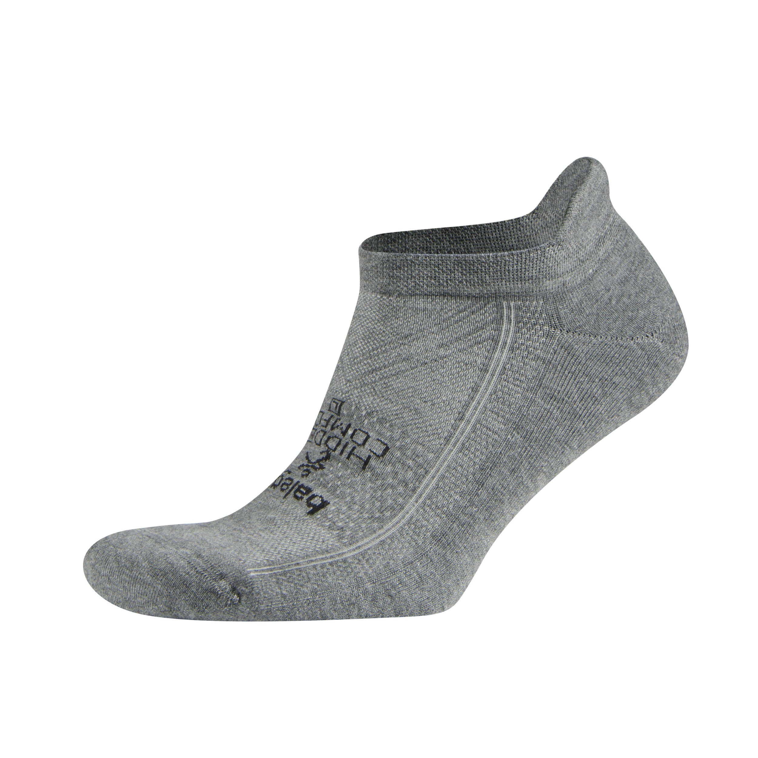Balega Hidden Comfort No-Show Running Socks for Men and Women (1 Pair), Charcoal, Large