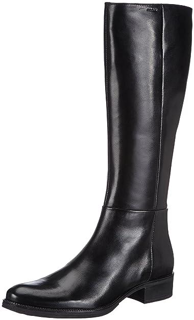 20fc379e2453f0 Geox - Donna Meldi Sitvali - Bottes - Femme - Noir - Noir (BlackC9999)