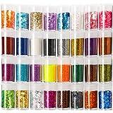 Teenitor Glitter, Fine Glitters and Holographic Chunky Glitters,Glitter for Nails, Glitter Slime, Assorted Glitter, Festival