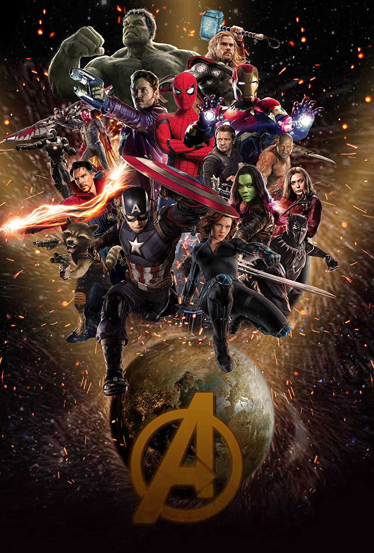 Avengers Infinity War Movie Poster Limited Print Photo Chris Hemsworth Chris Pratt Chris Evans Tom Hiddleston Robert Downey Jr. Zoe Saldana Scarlett Johansson Size 27x40 #3