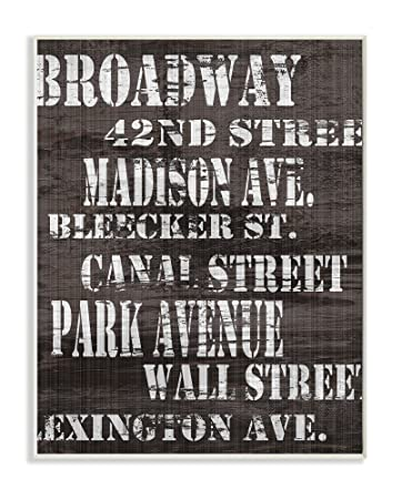 Amazon Stupell Home Decor Broadway Distressed New York City