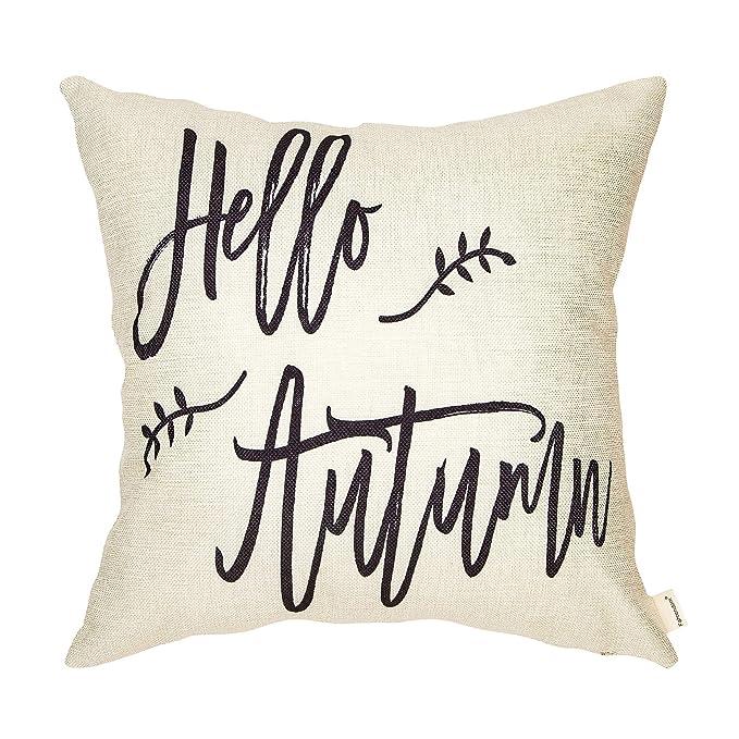 Amazon.com: Fahrendom - Funda de cojín decorativa de lino y ...