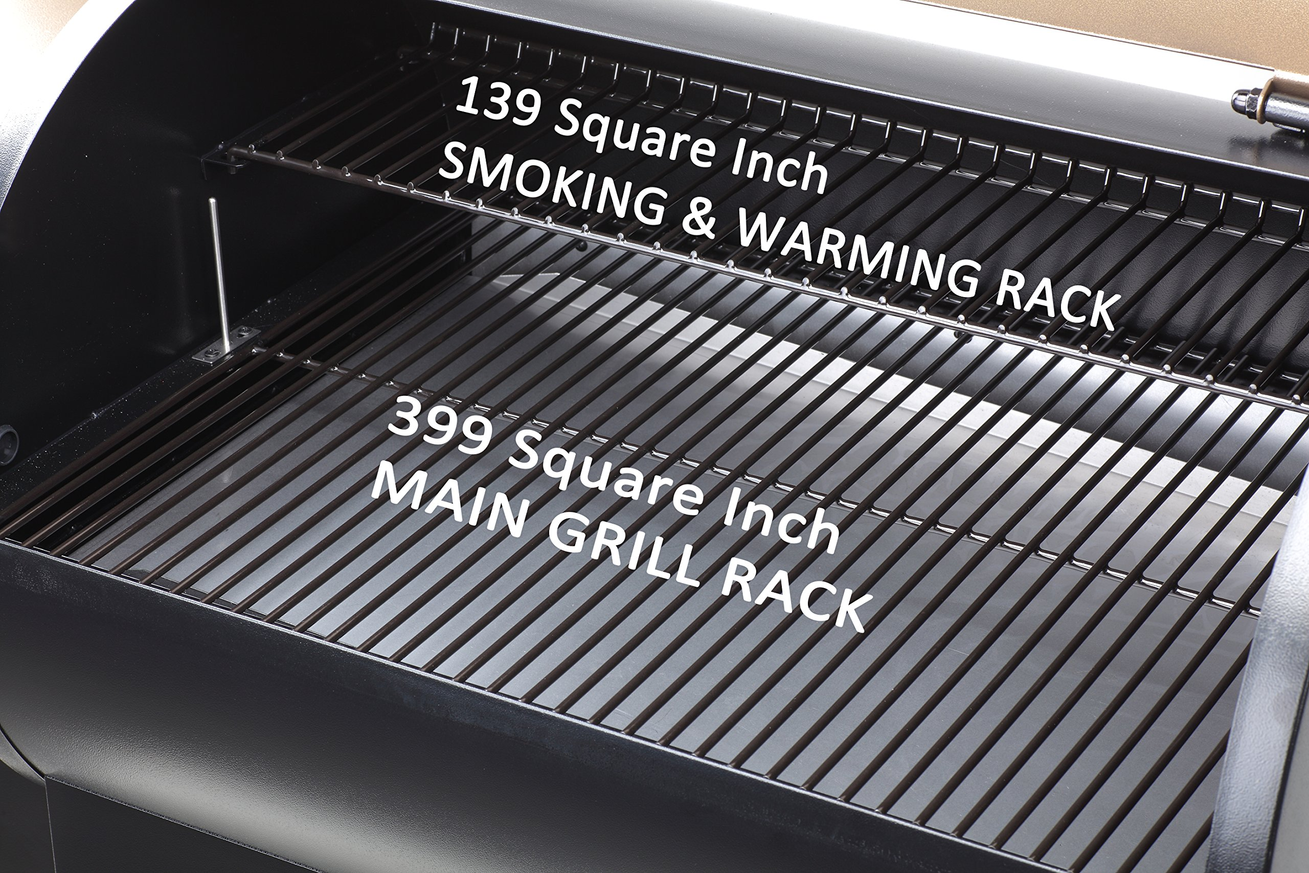 Z GRILLS ZPG-550B 2019 Upgrade Model Wood Pellet Grill & Smoker 6 in 1 BBQ Grill Auto Temperature Control, 550 sq Inch Deal, Black by Z GRILLS (Image #4)
