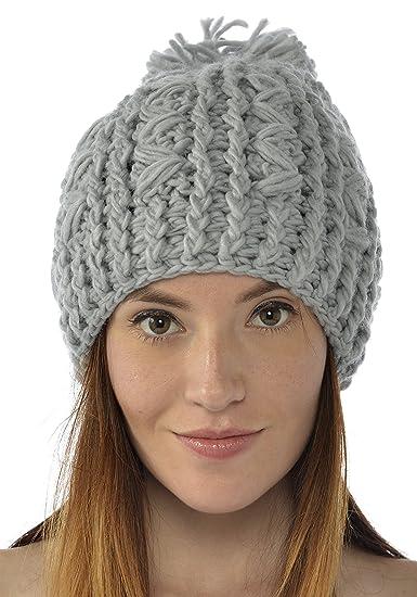 29b117ea4 Handmade Crochet Beanie Hat Gray (Made With 100% Acrylic Yarn) at ...