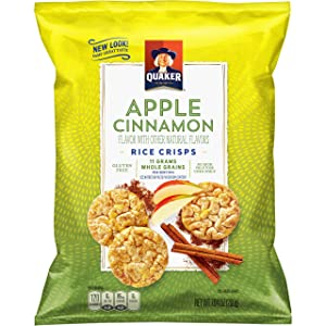 Quaker Popped Rice Crisp Snacks, Gluten Free, Apple Cinnamon, 7.04 Ounce