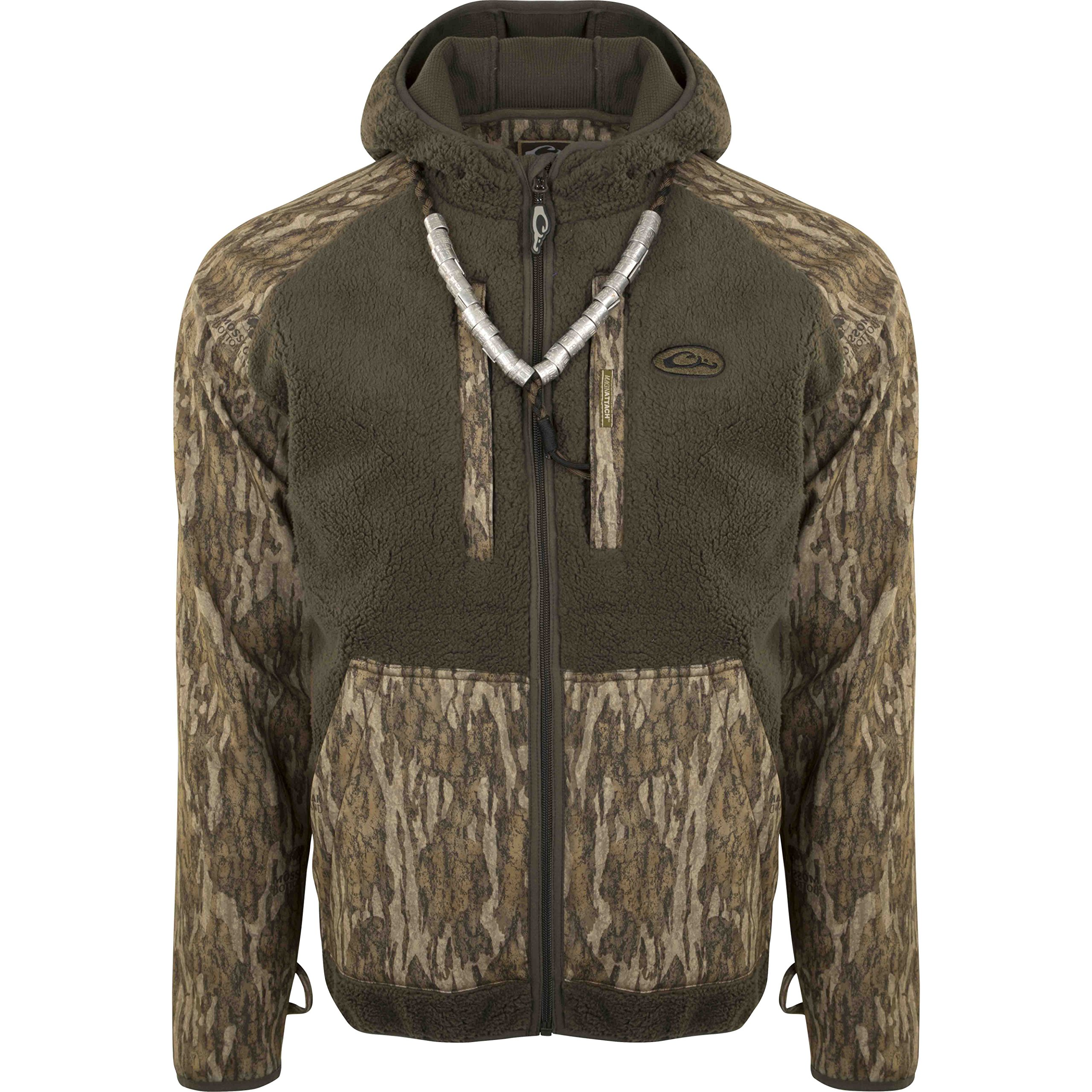 Drake MST Sherpa Fleece Hybrid Liner Full Zip with Hood (Bottomland, Small)