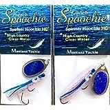 "Kokanee Salmon Micro Hoochies 2 ""ORANGE NIPPLE"" by Montana Tackle"