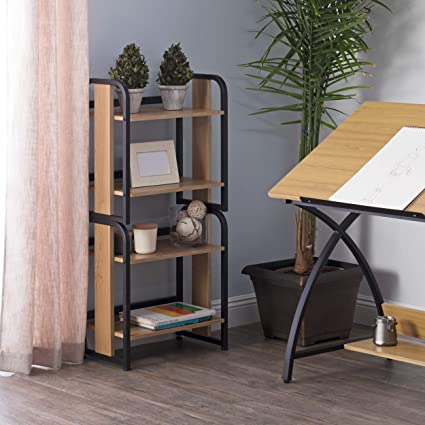 Calico Designs 51249 Modern Ashwood Stackable Bookshelf Graphite