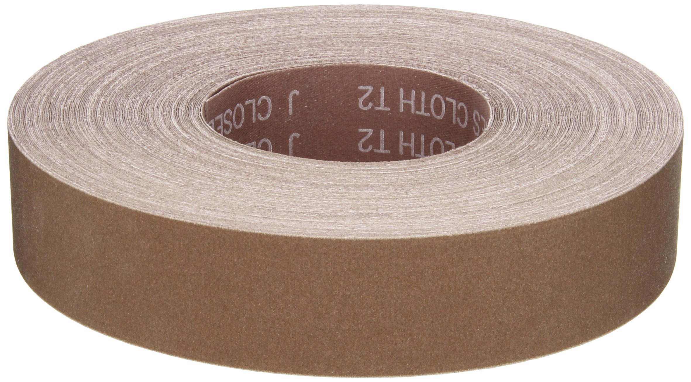 Norton K225 Metalite Abrasive Roll, Cloth Backing, Aluminum Oxide, 1-1/2'' Width x 50yd Length, Grit P240 (Pack of 5)