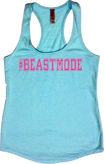 fe9fd2731f763 Orange Arrow Womens Workout Clothes -  Beastmode - Racerback Crossfit Tank  Tops at Amazon Women s Clothing store