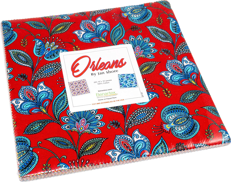 Jan Shore Orleans 10X10 Pack 42 10-inch Squares Layer Cake Benartex