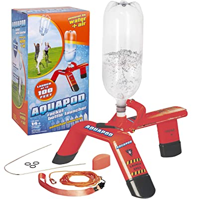 AquaPod Water Bottle Rocket Launcher Science Kit- STEM Toy Launches Soda Bottles Up to 100 ft in Air: Toys & Games