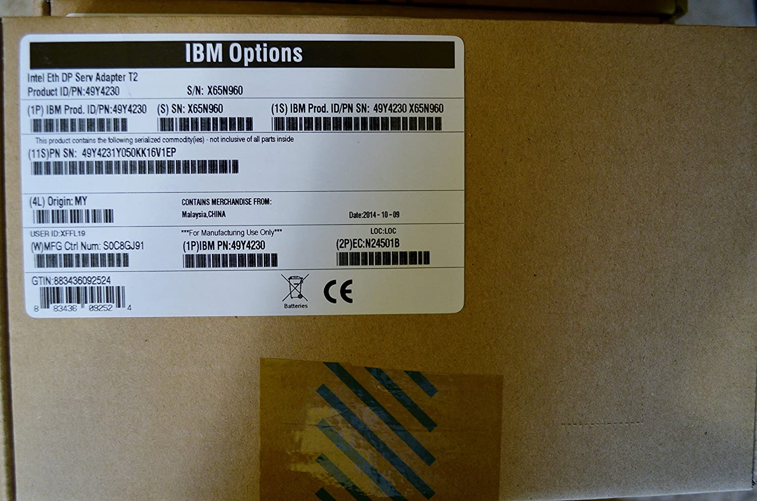 IBM Intel Ethernet Dual Port Server Adapter I340 T2 for System X 49Y4230