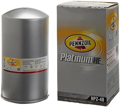 Pennzoil hpz-49 Platinum cubierta del filtro de aceite